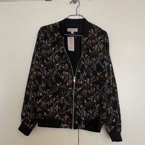 NWT women's bomber floral jacket